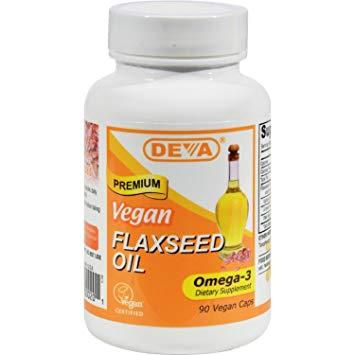 Deva Organic Vegan Vitamins Flax Seed Oil, Omega-3