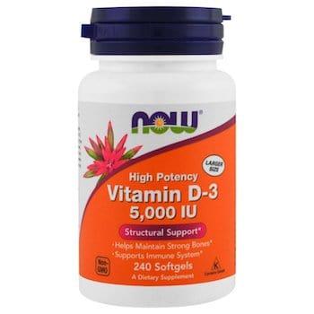 NOW Foods Vitamin D3 5000 lu Softgels