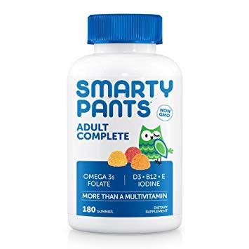 SmartyPants Vitamins Adult Gummy Multivitamins Plus Omega 3's Plus Vitamin D 180 Gummies