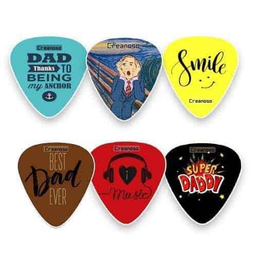 Creanoso Dad Guitar Picks Celluloid Medium